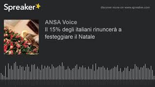 Il 15% degli italiani rinuncerà a festeggiare il Natale