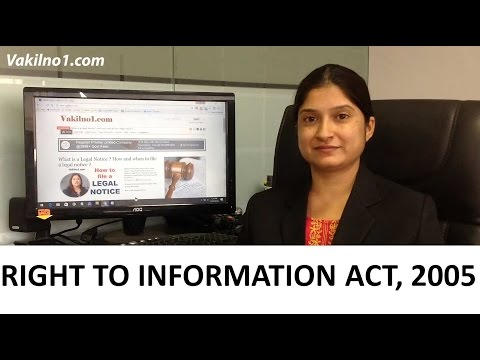 Right to Information Act Simplified -  RTI Act  2005 explained in Hindi