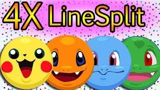 Agar.io NEW POKEMON SKINS // 4X LINESPLIT + ( Pika, Char, Bulba, Squi )
