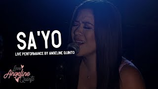 Sa'yo by Silent Sanctuary (Live Performance) | Angeline Quinto
