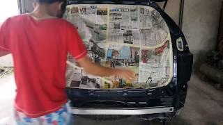 汽車噴漆 pcc1 TOYOTA HARRIER 重新噴了之後既然亮的可以照鏡子!pcc1