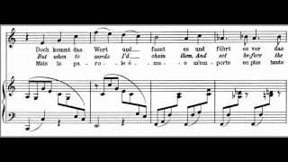 Wie Melodien Zieht es mir Brahms High key C Major