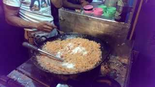Indonesian Street Food: Fried Rice (Nasi Goreng) @Braga Culinary Night, Bandung (Jan 25, 2014)