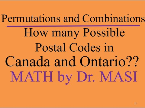How Many Different Possible Postal Codes In Canada And Ontario?
