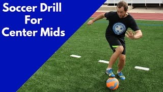 SOCCER DRILL For Center Midfielders | Create More Space On The Pitch