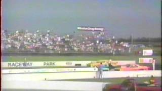 Gordy Foust breaks 200 MPH at Indianapolis Dragway, July 23, 1989