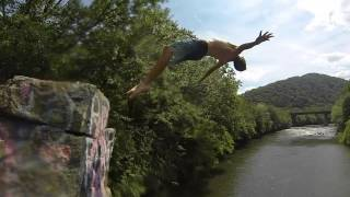 Peace Rock Cliff Jumping GOPro