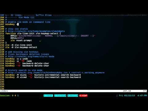 Vim Mode With Status Widget - Linux ZSH