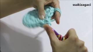 penye ip ile yuvarlak sepet yapımı