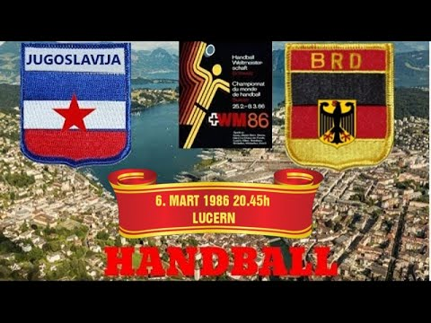 Handball гандбол World Cup Jugoslavija East Germany Deutsche Bundes Republik  Switzerland 1986.