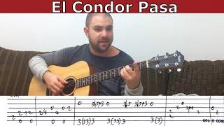 Fingerstyle Tutorial: El Condor Pasa - Guitar Lesson w/ TAB