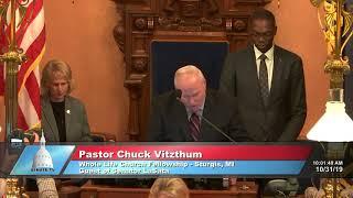 Sen. LaSata welcomes Pastor Vizthum to the Michigan Senate