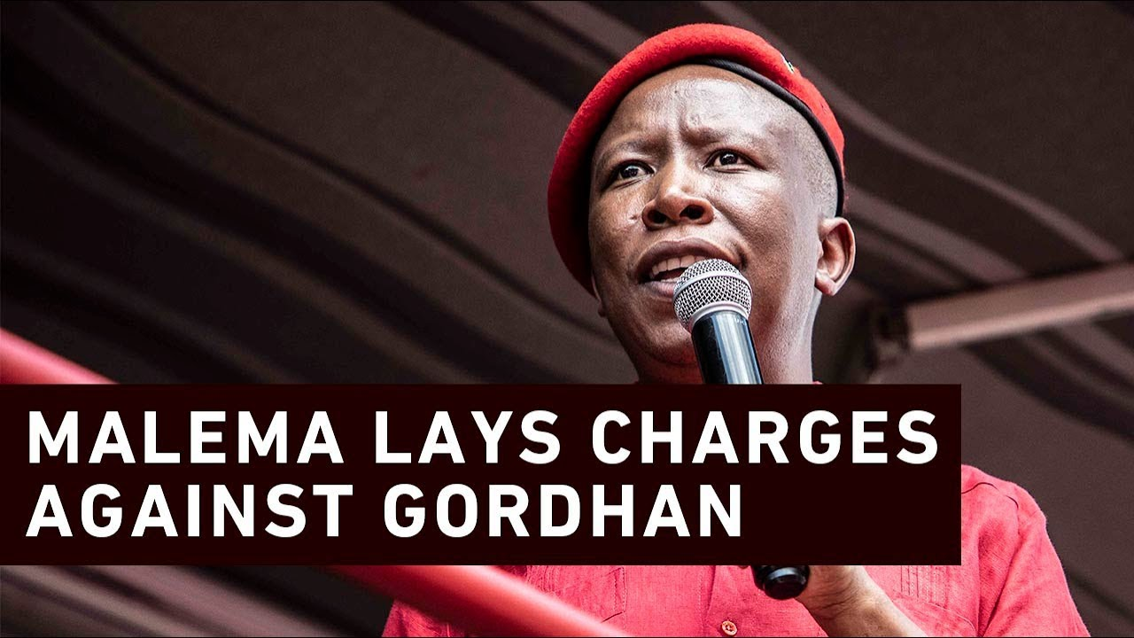 'You push me, I push back' - Malema lay charges against Gordhan
