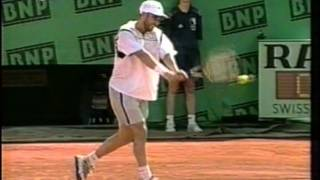 andre agassi backhand slow motion