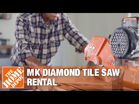Mk Diamond Medium And Large Tile Saws The Home Depot Rental Youtube