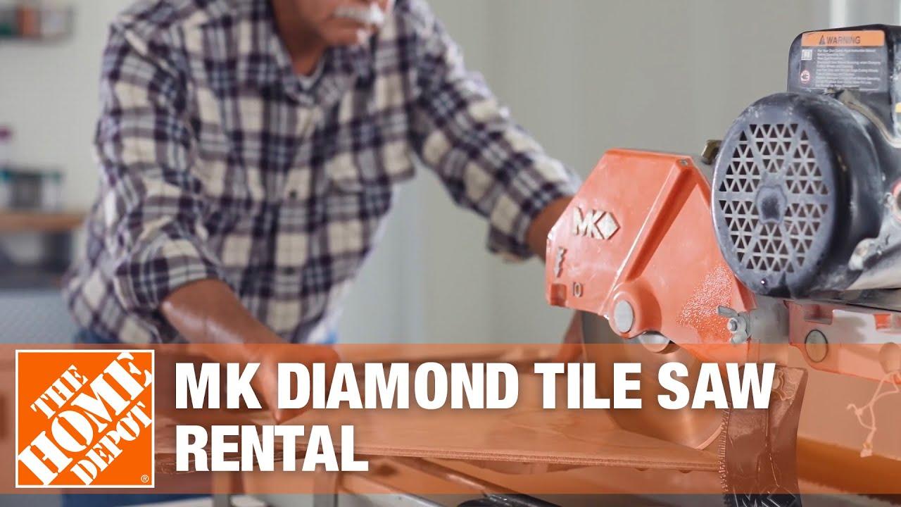mk diamond medium and large tile saws the home depot rental