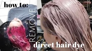 How to Remove Direct Hair Dye