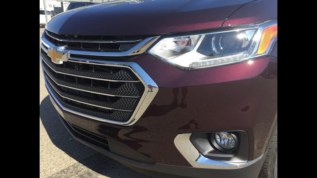 2018 Chevy Traverse >> NEW 2018 Chevrolet Traverse | 3LT, AWD, Black Currant/Purple | 18n032 - YouTube