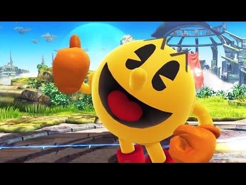 PAC-MAN In Super Smash Bros. Wii U / 3DS Trailer (+ Mr. Game & Watch)