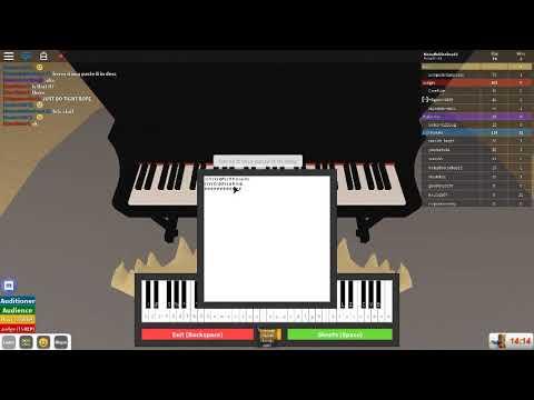 roblox got talent piano sheet music