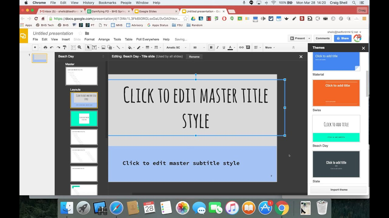 edit master in google slides youtube
