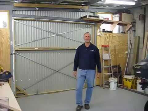Hangar Style Bifold Door On My Shed 1 Youtube