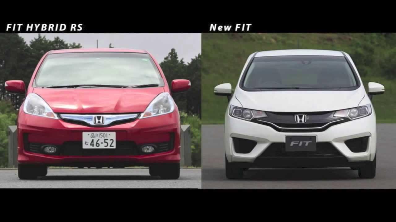 【新旧比較】ホンダ 新型フィット vs.2代目フィット   2014 New HONDA FIT FIT2 vs FIT3 - YouTube