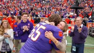 TigerNet.com - Clemson football player proposes on 2015 senior day - Part 2