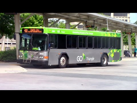 GoTriangle & Greyhound Buses At Durham Station