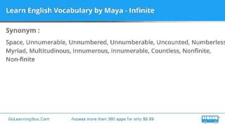 Learn English Vocabulary by Maya - Infinite
