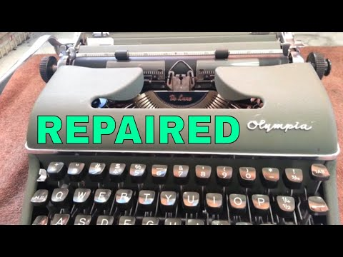 Olympia SM-3 Manual Typewriter Sticky Typebars Segment Ribbon Feed Repaired Serviced Cleaned