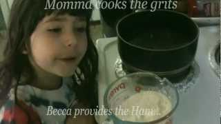 Cooking Cheese Grits With Becca