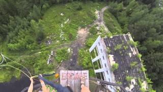 Роупджампинг с МШ. Рахья. Гвоздь. Лечу с 44 метров!