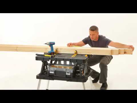 Keter Folding Compact Workbench Sawhorse Work Table with Clamps  [Installation & setup ]