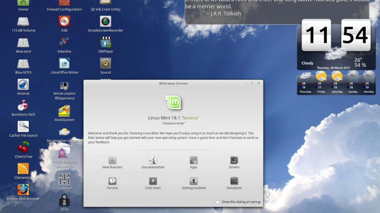 Linux Mint Two Superb Desktop Weather S