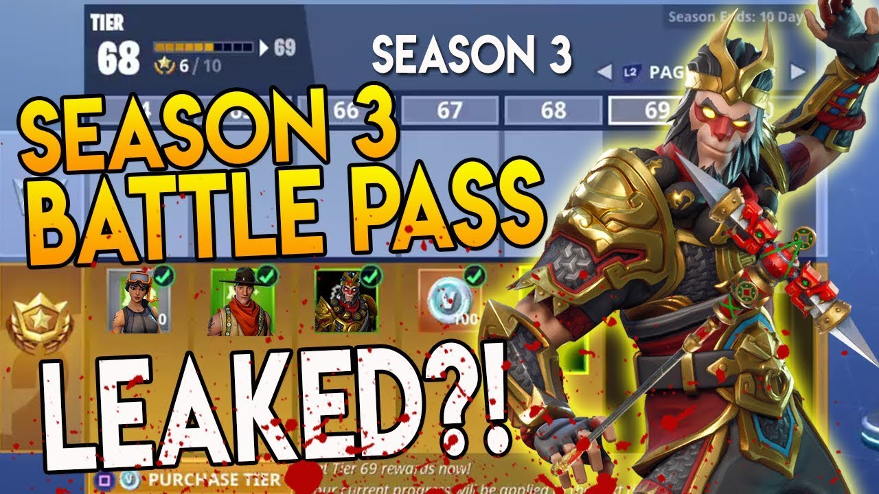 Battle Pass Season 3 Leaked Fortnite Battle Royale Monkey King