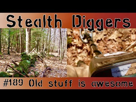 #189 Old stuff is awesome  Metal detecting old stuff relics of the past 1700's 1800's Garrett ATGOLD