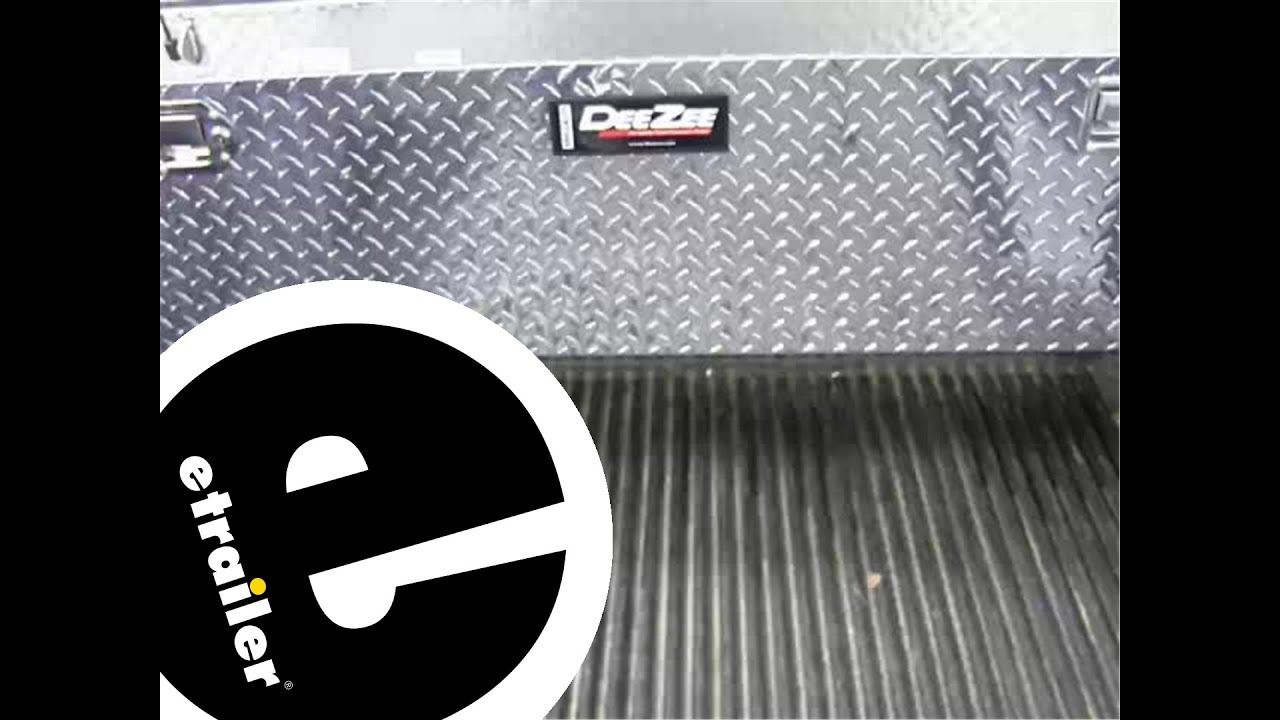 review of the deezee narrow crossover truck bed toolbox etrailercom youtube