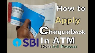 How to apply cheque book in sbi atm