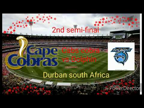 2nd semi-final match Dolphin vs cabs cobra durban ground in south Africa