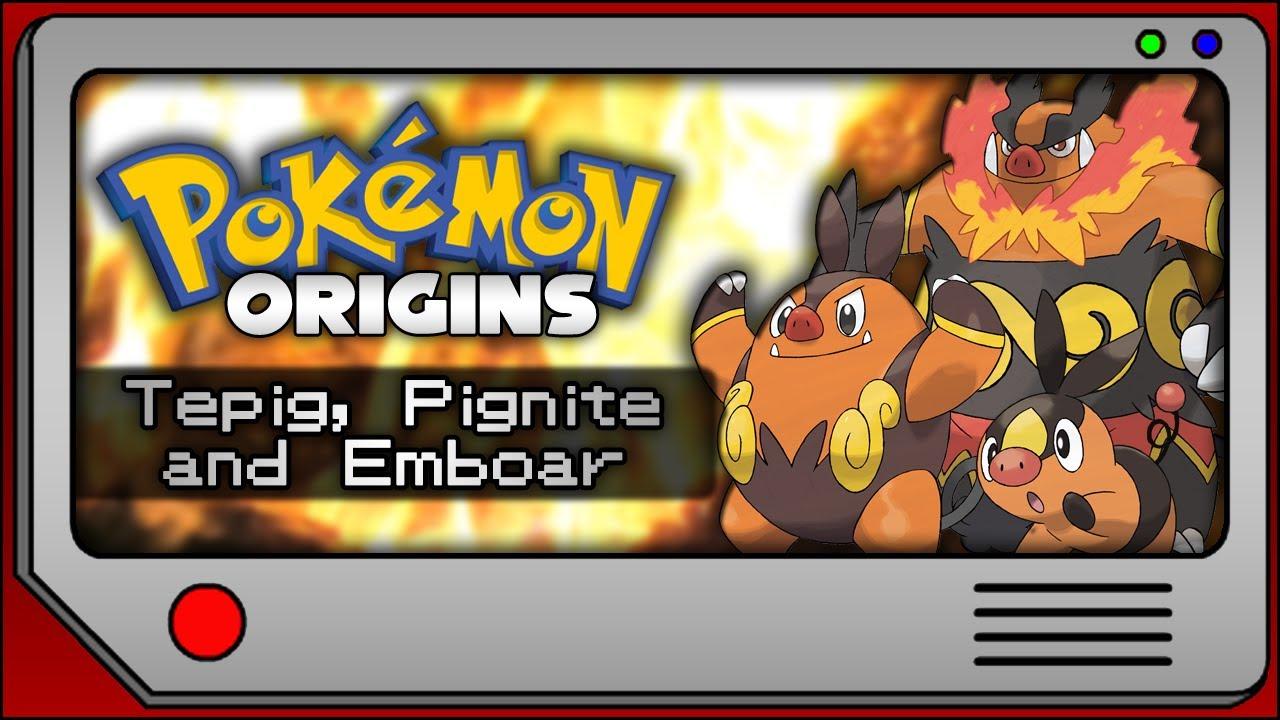 Pokemon Origins - Tepig, Pignite and Emboar - YouTube