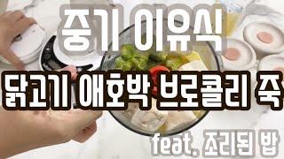 베이비 브레짜 이유식 마스터기 - 닭고기애호박브로콜리 …