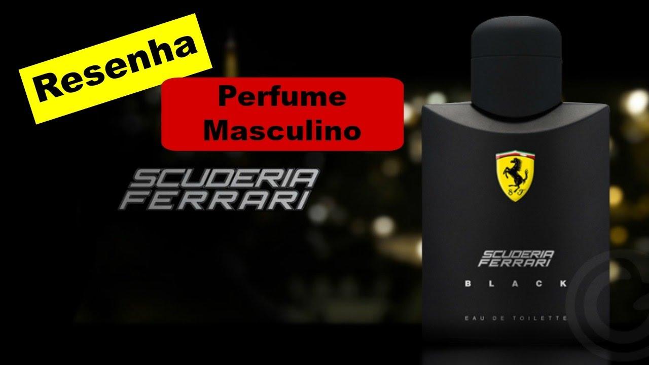39474e347 PERFUME MASCULINO  SCUDERIA FERRARI BLACK - FERRARI ( RESENHA) - YouTube