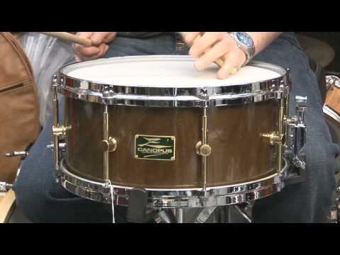 Canopus 6.5x14 Zelkova Solid Shell Snare Drum
