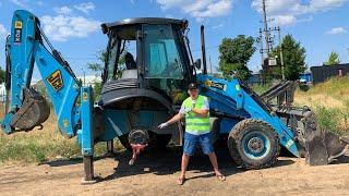 Trator JCB a roda caiu - Dima está consertando um trator