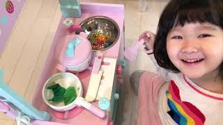 キッチンのおもちゃでリアル赤ちゃんのおせわごっこ!おゆうぎ Shop and Kitchen Toy