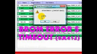 BROM ERROR S TIMEOUT (0x412) 100% Solution