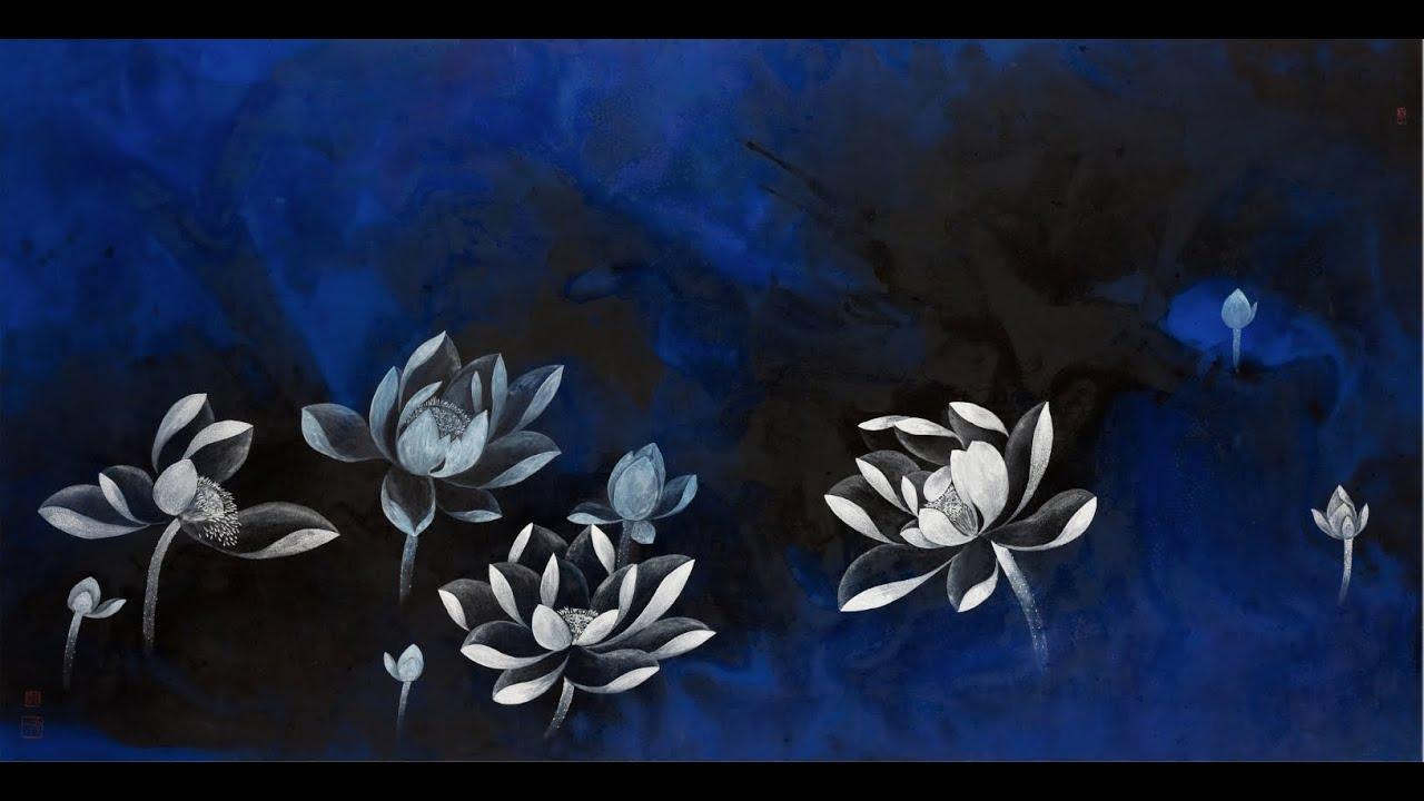 當代水墨畫家 陳正隆現代水墨畫展~心荷出水系列作品 - YouTube