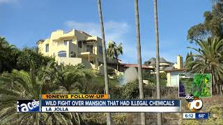 Wild fight over mansion with illegally stored chemicals