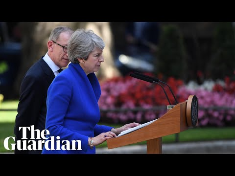 Theresa May gives final speech as prime minister